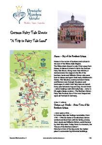 German Fairy Tale Route