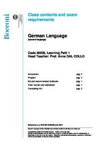 German Language (second language)