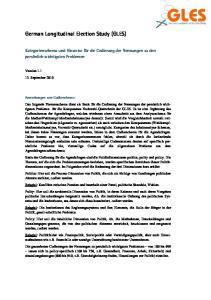 German Longitudinal Election Study (GLES)