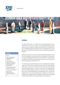 GERMAN M&A AND PRIVATE EQUITY NEWS