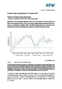 German Private Equity Barometer:
