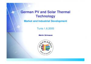 German PV and Solar Thermal Technology