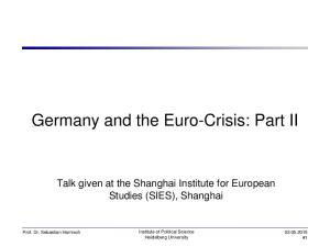 Germany and the Euro-Crisis: Part II