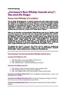 Germany s Best Whisky Awards 2014 : Das sind die Sieger