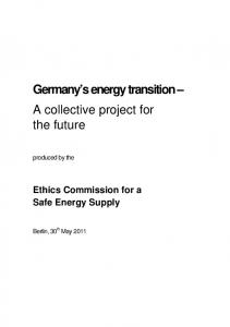 Germany s energy transition A collective project for the future