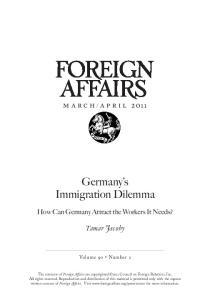 Germany s Immigration Dilemma