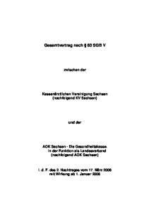 Gesamtvertrag nach 83 SGB V