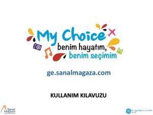 ge.sanalmagaza.com KULLANIM KILAVUZU