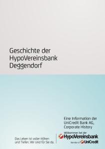 Geschichte der HypoVereinsbank Deggendorf