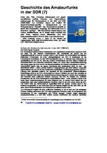 Geschichte des Amateurfunks in der DDR (7)