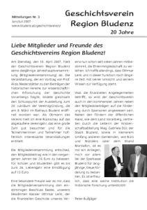 Geschichtsverein Region Bludenz 20 Jahre