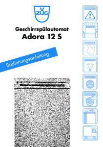 Geschirrspülautomat Adora 12 S
