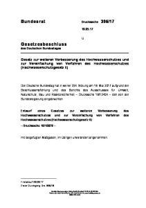 Gesetz zur weiteren Verbesserung des Hochwasserschutzes und zur Vereinfachung von Verfahren des Hochwasserschutzes (Hochwasserschutzgesetz II)