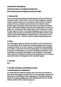 Gesetzentwurf der Bundesregierung. Entwurf eines Gesetzes zur Neuregelung des Rechtsrahmens