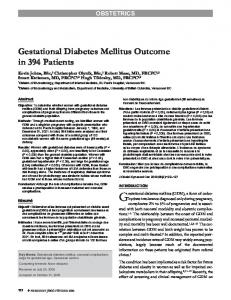 Gestational diabetes mellitus (GDM), a form of carbohydrate