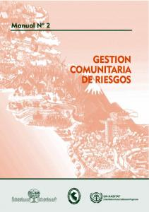 GESTION COMUNITARIA DE RIESGOS