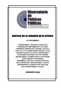 GESTION DE LA CALIDAD EN EL ESTADO
