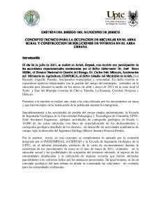 GESTION DEL RIESGO DEL MUNICIPIO DE JERICO