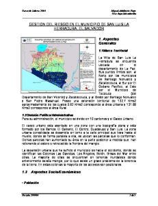 GESTION DEL RIESGO EN EL MUNICIPIO DE SAN LUIS LA HERRADURA, EL SALVADOR