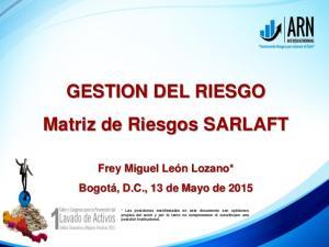 GESTION DEL RIESGO Matriz de Riesgos SARLAFT