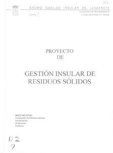 GESTION INSULAR DE. RESIDUOS SaLIDOS