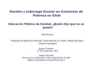 Gestión y Liderazgo Escolar en Contextos de Pobreza en Chile