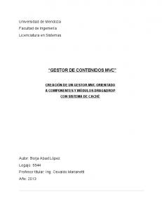 GESTOR DE CONTENIDOS MVC