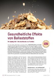 Gesundheitliche Effekte von Ballaststoffen