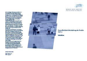 Gesundheitsberichterstattung des Bundes Heft 12. Dekubitus. ROBERT KOCH INSTITUT Statistisches Bundesamt