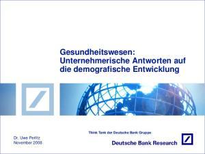 Gesundheitswesen: Unternehmerische Antworten auf die demografische Entwicklung