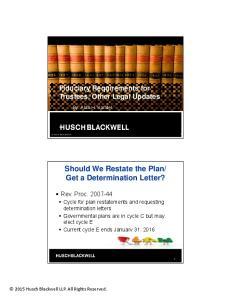 Get a Determination Letter?
