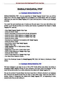 Get Instant Access to ebook Babaji Nagaraj PDF at Our Huge Library BABAJI NAGARAJ PDF. ==> Download: BABAJI NAGARAJ PDF