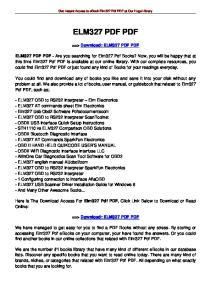 Get Instant Access to ebook Elm327 Pdf PDF at Our Huge Library ELM327 PDF PDF. ==> Download: ELM327 PDF PDF