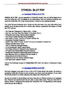 Get Instant Access to ebook Ethical Slut PDF at Our Huge Library ETHICAL SLUT PDF. ==> Download: ETHICAL SLUT PDF