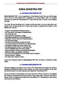 Get Instant Access to ebook Koka Shastra PDF at Our Huge Library KOKA SHASTRA PDF. ==> Download: KOKA SHASTRA PDF