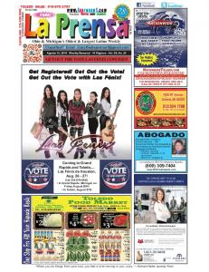 GET OUT THE VOTE LAS FENIX CONCERT! FREE! Ohio & Michigan s Oldest & Largest Latino Weekly