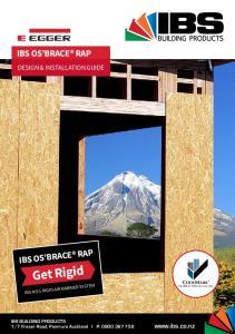 Get Rigid IBS OS BRACE RAP IBS OS BRACE RAP DESIGN & INSTALLATION GUIDE.  IBS NO:1 RIGID AIR BARRIER SYSTEM