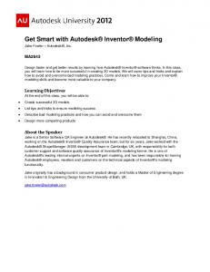 Get Smart with Autodesk Inventor Modeling