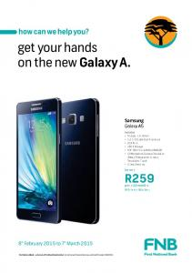 get your hands on the new Galaxy A