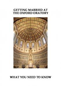 GETTING MARRIED AT THE OXFORD ORATORY