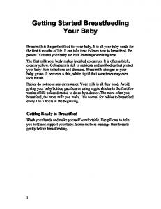 Getting Started Breastfeeding Your Baby