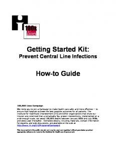 Getting Started Kit: Prevent Central Line Infections. How-to Guide