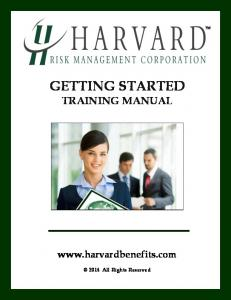 GETTING STARTED TRAINING MANUAL