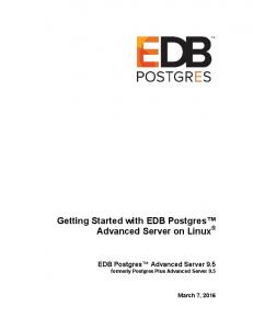 Getting Started with EDB Postgres Advanced Server on Linux