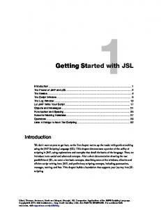 Getting Started with JSL