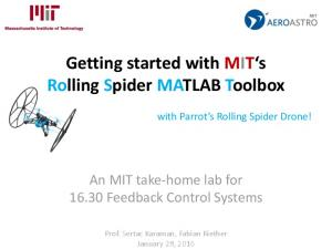 Getting started with MIT s Rolling Spider MATLAB Toolbox