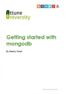 Getting started with mongodb