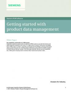 Getting started with product data management