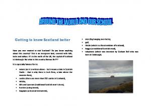 Getting to know Scotland better