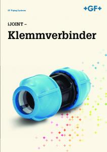 GF Piping Systems. ijoint. Klemmverbinder